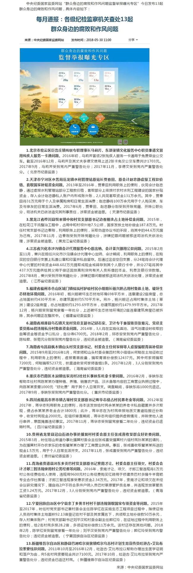 北京快乐8彩票走势图:【反腐】中纪委通报13起群众身边的腐败和作风问题_涉及福建1起!
